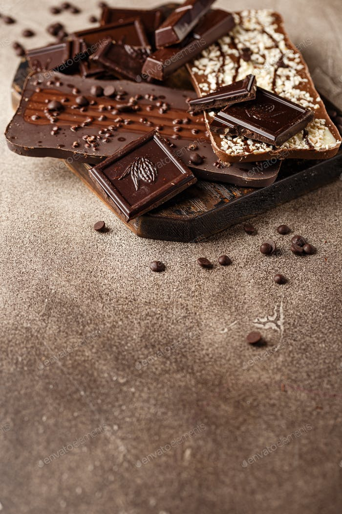 Thumbnail for Close-up of chocolate pieces