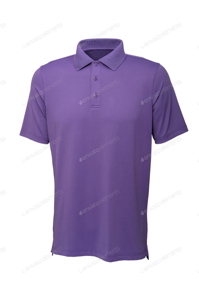 Golf purple tee shirt for man or woman