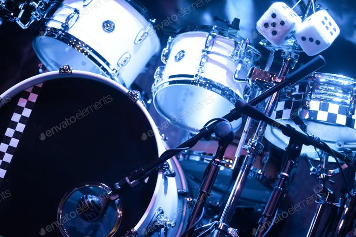 drum kit on stage
