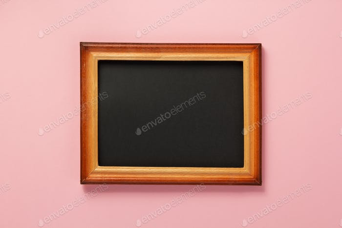 picture frame at wall background