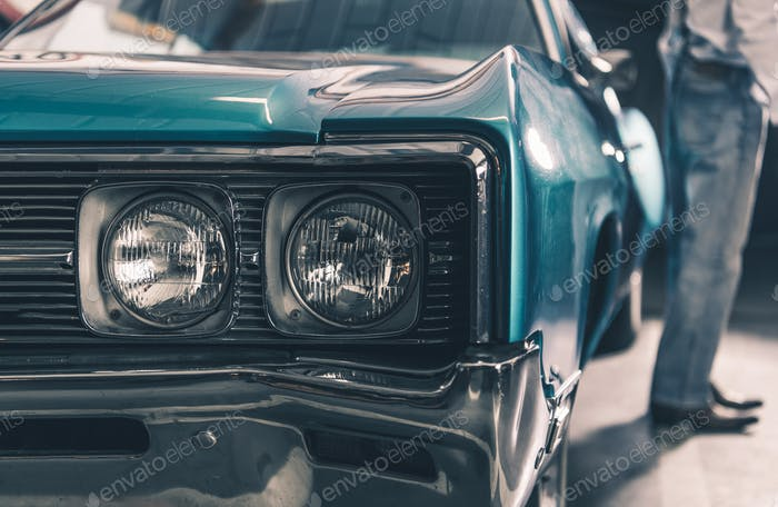 Retro Car Closeup