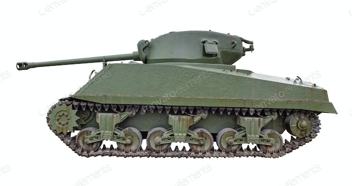 Sherman tank isolated