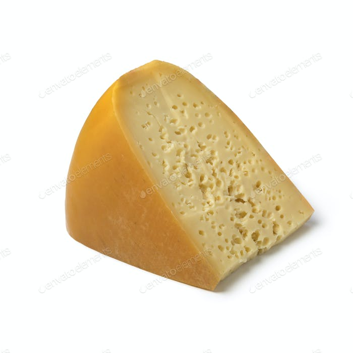 Piece of Dutch Stolwijker cheese