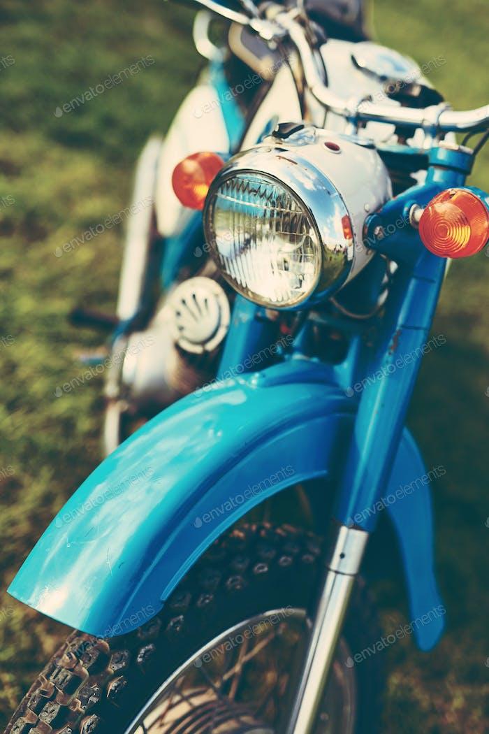 Blue vintage motorcycle