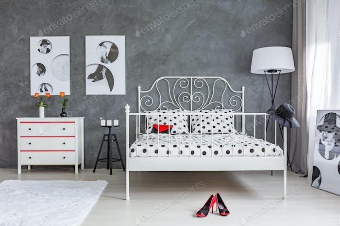 Grey And White Bedroom Foto Von Bialasiewicz Auf Envato Elements Cool Grey And White Bedroom