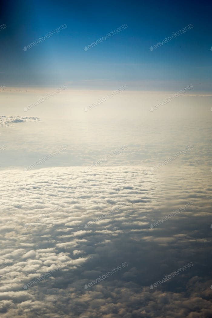 Sky and clouds from a plane
