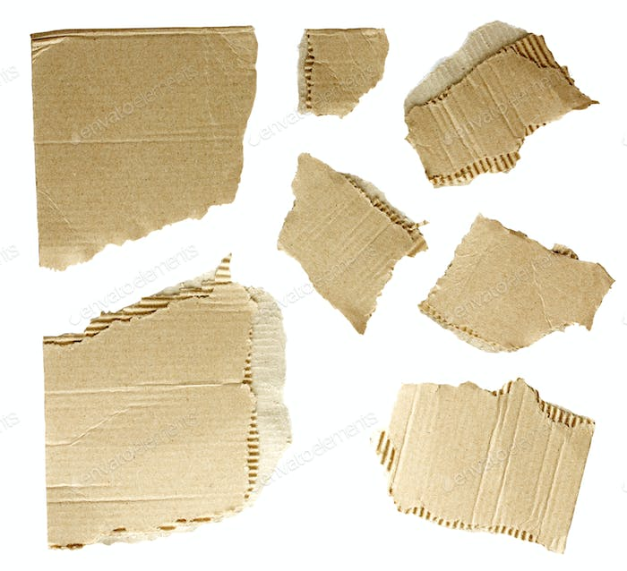 collection of a cardboard