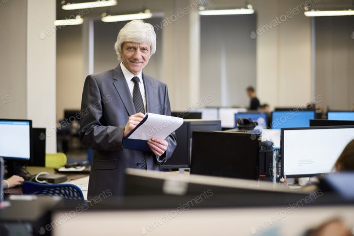 Senior Businessman Posing