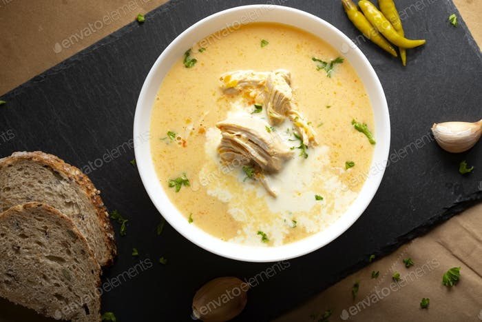 Ciorba radauteana - Romanian traditional chicken soup