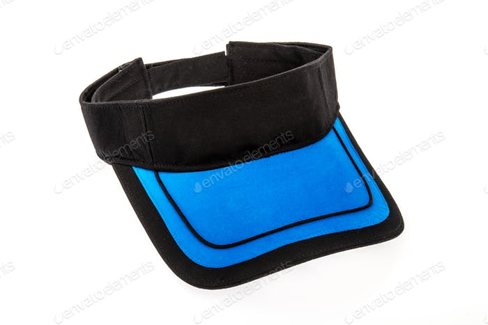 Visor in Black and Blue