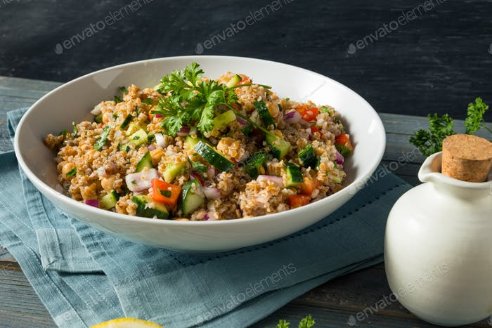 Homemade Bulgar Wheat Salad