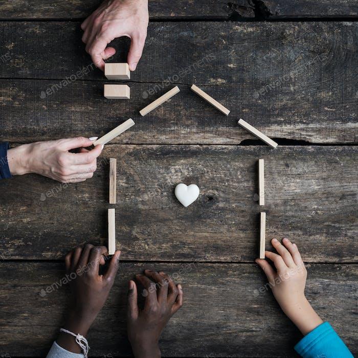 Family and adoption conceptual image