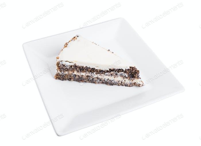 Delicious poppy seed cake.