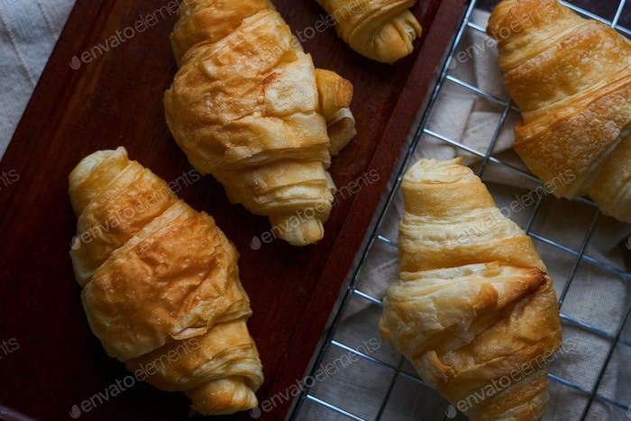 Homemade mini croissants