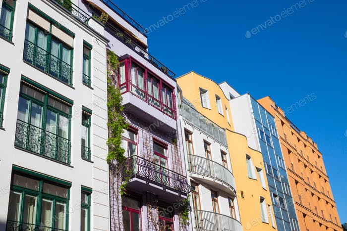 Colourful modern townhouses