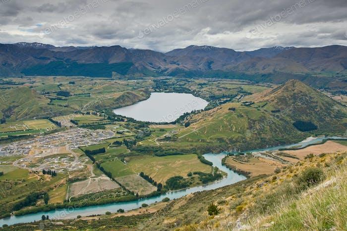 Vista hacia el lago Hayes