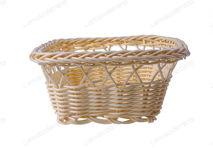Straw Basket isolated