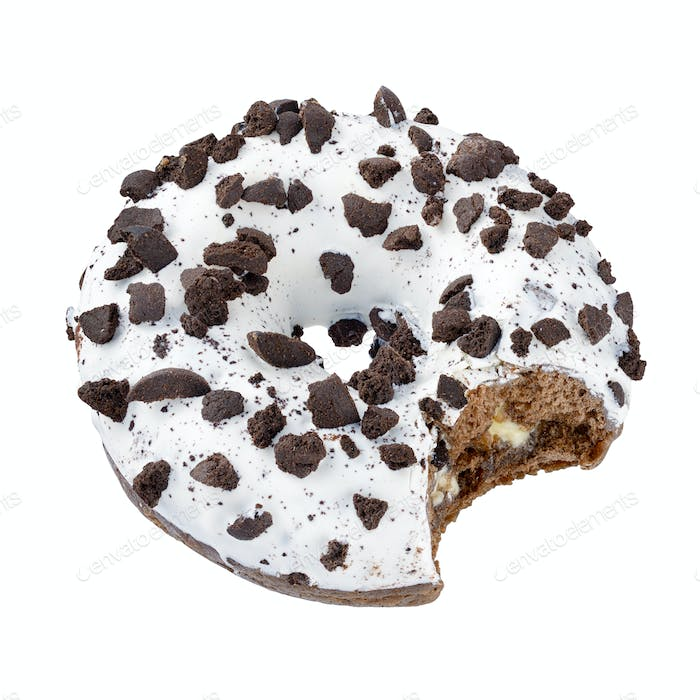 Donut with chocolate sprinkles isolated