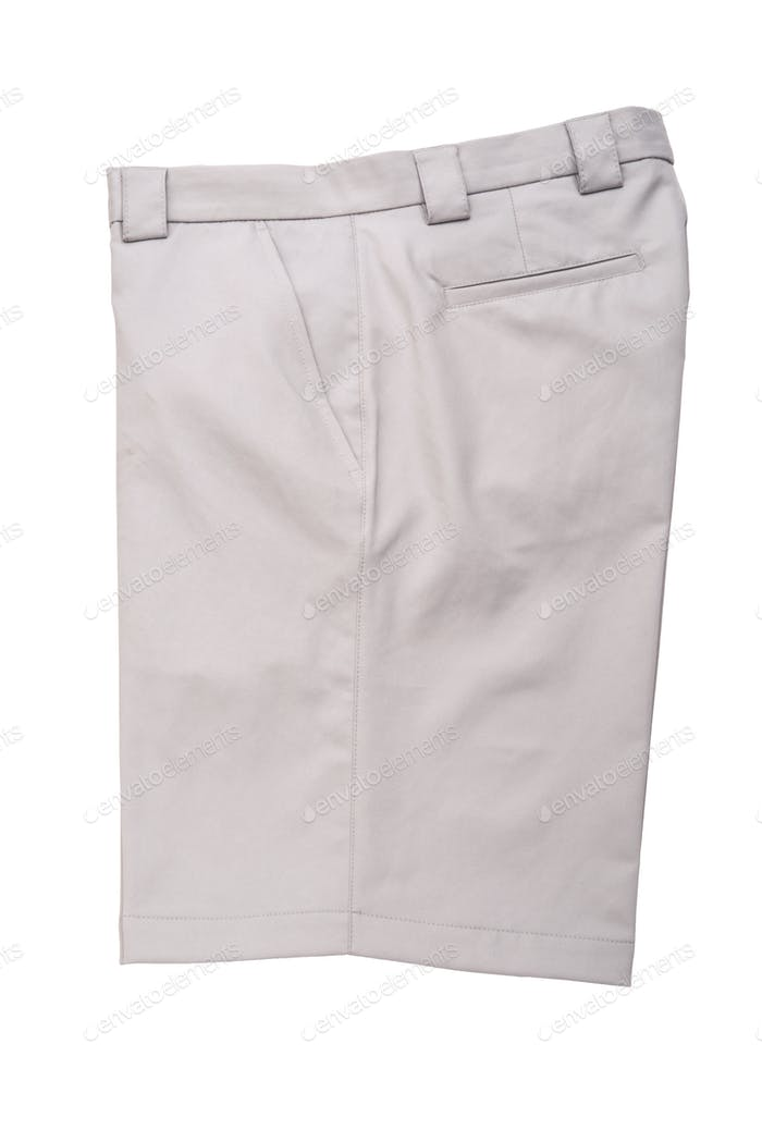 Short Grey Pants for Men Isolated