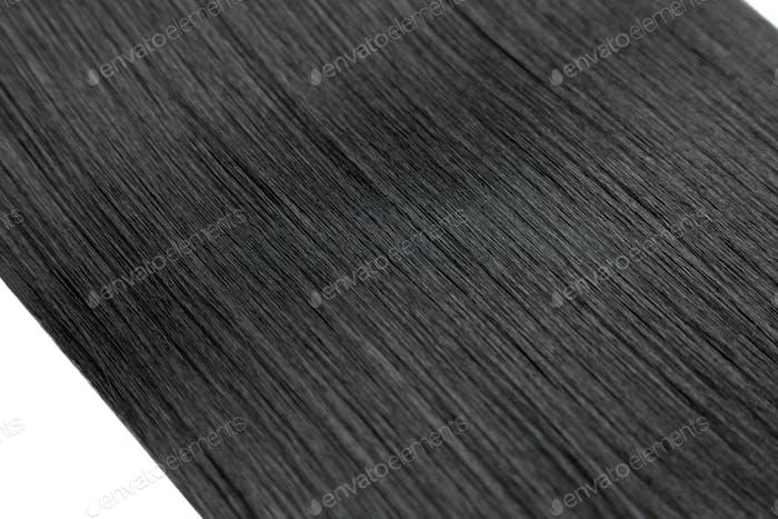Closeup on luxurious glossy black hair