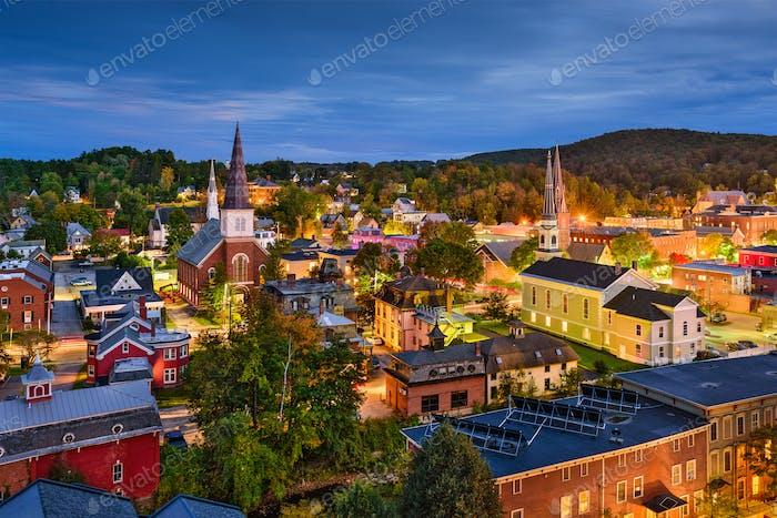 Montpelier, Vermont Skyline