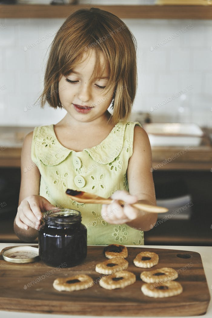 Baking Cookies Kid  Bakery Fun Concept