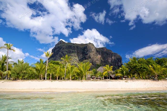 Mauritius white sand beach