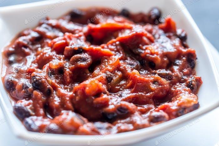 Thumbnail for Bowl of black bean chili