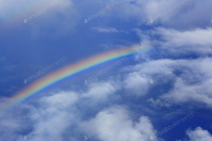real rainbow in sky