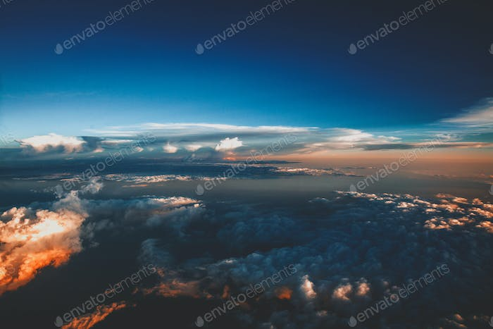 Sunset from above the clouds