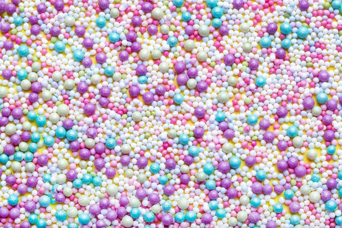 Azúcar rociado colorido