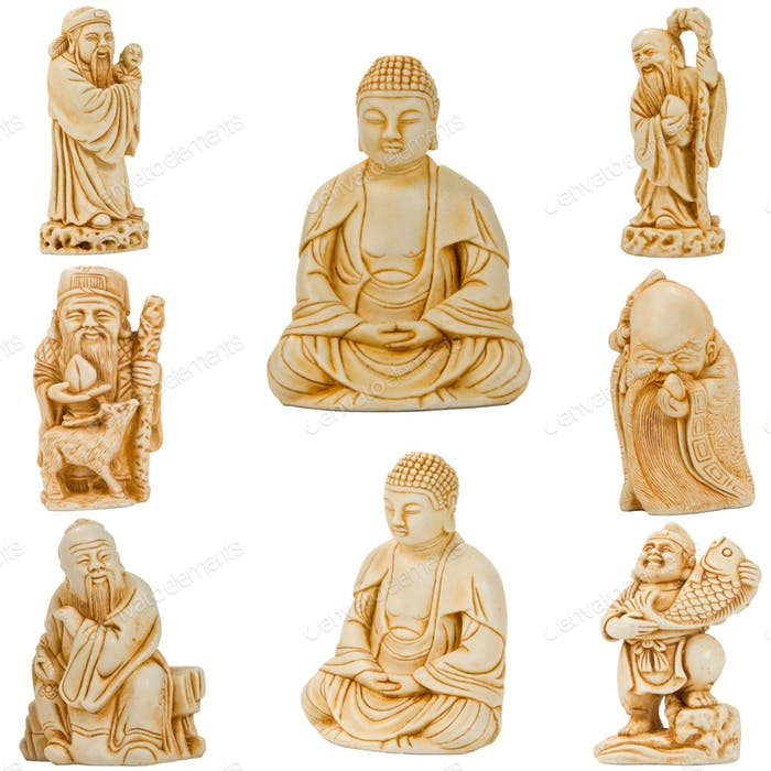 Buddha with friends