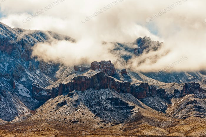 Winter Storm Snow Chisos Mountains Big Bend NP TX