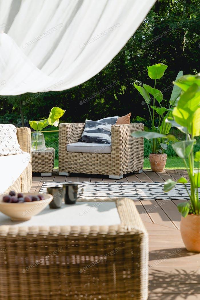 Living room in the garden