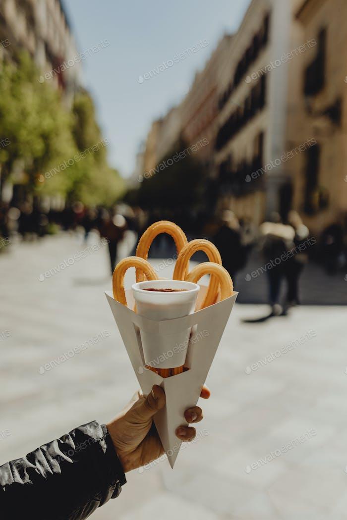 Spanish churros snack