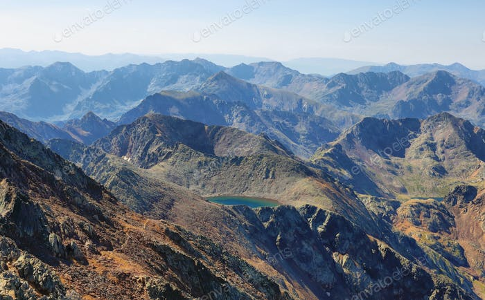 Views from Pica d'Estats, top of Catalonia, Pyrenees