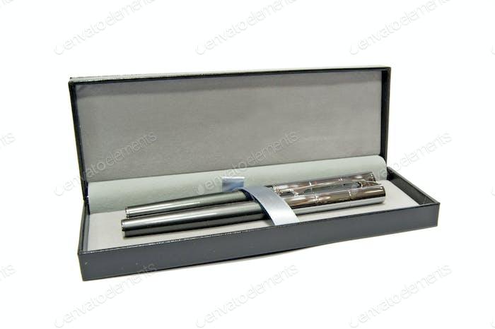 pens in a box