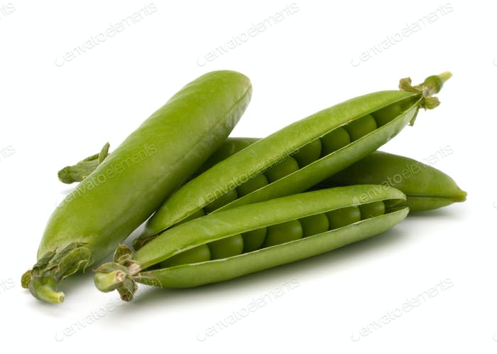 Fresh green pea pod