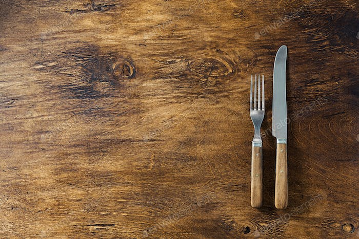 Cutlery with wooden handles