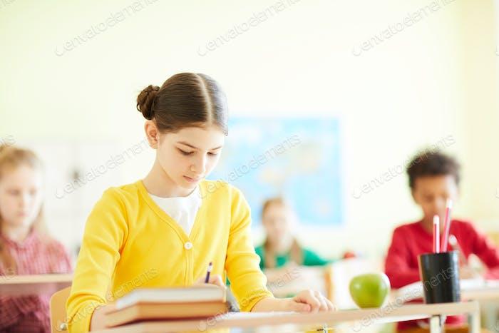 Elementary students passing exam