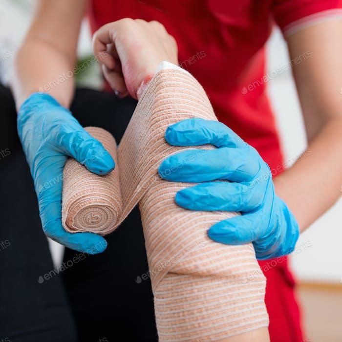 First Aid Training - Arm cut