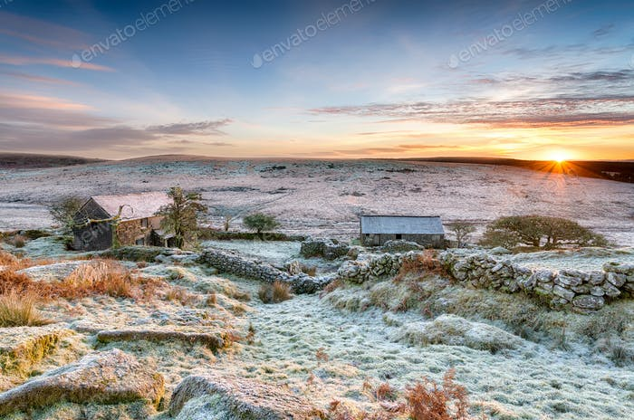 Winter Sunrise on Bodmin Moor