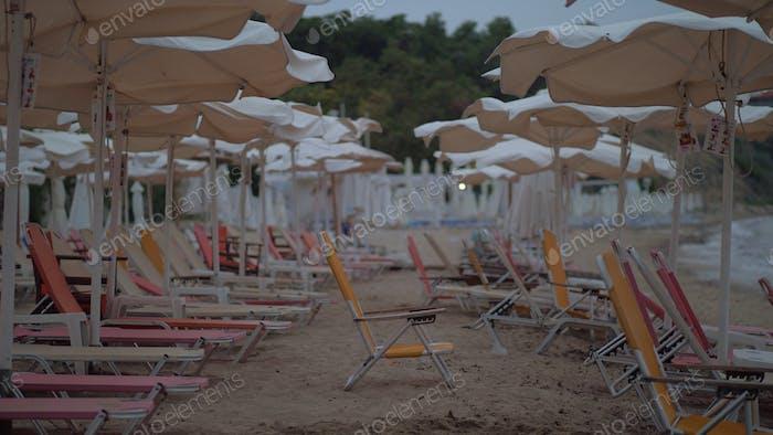Empty resort area at the sea shore, Greece