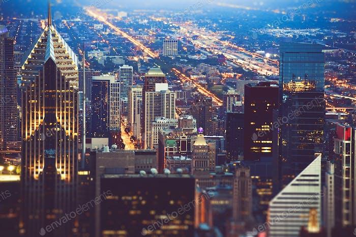Colorida Noche de Chicago