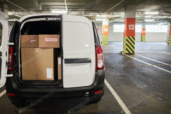 Delivery Van Background
