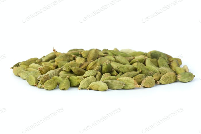 Small pile of green cardamon seeds