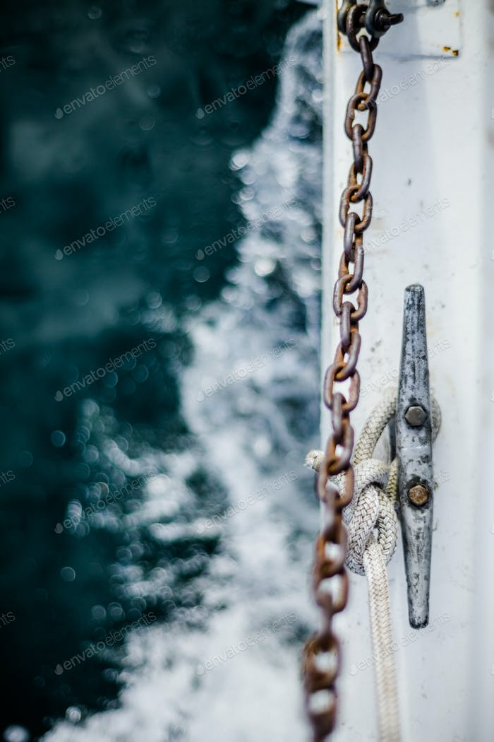 Waves and Mooring Abstract Background