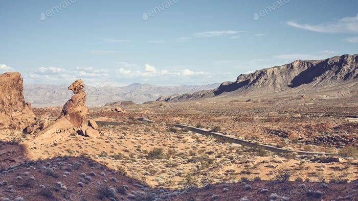 Panoramic view of Valley of Fire, Nevada, USA.