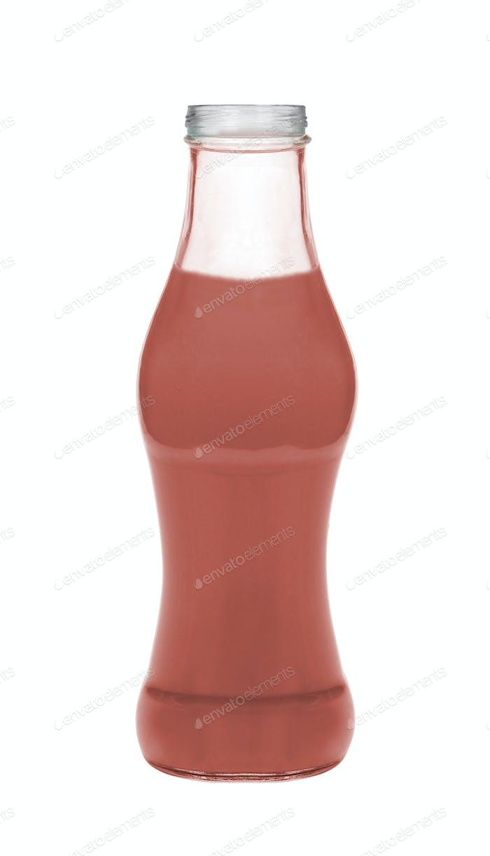 Strawberry milk isolated on white background