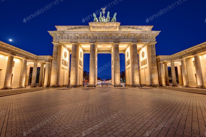 The famous Brandenburg Gate